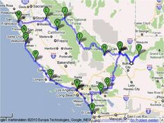 Roadtrip West Coast USA – Big cities and endless spaces – Amerika-Forum. Pacific Coast Highway, West Coast Road Trip, Florida Travel, Travel Usa, West Coast Usa, East Coast, Südwesten Usa, Road Trip Map, Photo Maps