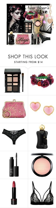 """""""New Year's Eve Magic"""" by giovanina-001 ❤ liked on Polyvore featuring beauty, Bobbi Brown Cosmetics, Rock 'N Rose, Patricia Nash, Chanel, Parfums de Marly, NARS Cosmetics, MAC Cosmetics, Shiseido and Charlotte Russe"""