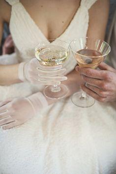 Wedding Traditions Francis Ford Coppola Winery | Bridal Musings Wedding Blog --- Love those Glasses