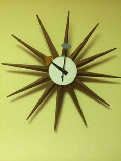 Vintage George Nelson Herman Howard Miller Mid Century Modern Spike Wall Clock
