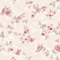 Papel de Parede StickDecor  Adesivo Floral Rosinhas Doll House Wallpaper, Wall Wallpaper, Pattern Wallpaper, Decoupage Vintage, Vintage Paper, Decoupage Box, Beautiful Flowers Wallpapers, Cute Wallpapers, Floral Rosa