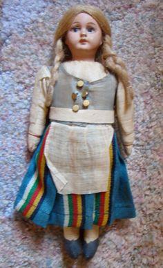 Vintage Finland Marta doll in Finnish national folk costume  #Marta #DollswithClothingAccessories