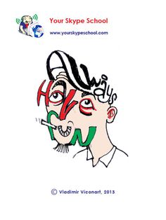 Always Have Fun! - #typography, #playful #words, #wise #saying, #quote, your skype school #linguistic project, word play, #cartoon
