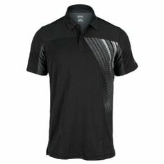 Reebok Men's Tennis Graphic Polo T-Shirt (Small, Black) by Reebok. $20.00. 100% Poly. Play Dry fabrication. Lightweight Poly Tennis Polo. Front graphic. Egonomic seaming for increased comfory and mobility. 4 button placket. Featuring ergonomic seaming and a lightweight design the Reebok Mens SE Tennis Pure Victory Graphic Polo increases comfort during movement Play Dry technology wicks away moisture and enhances ventilation to keep you cool Speed graphic and fabric stripin...