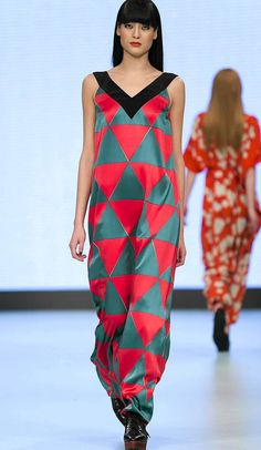 Marimekko's autumn/winter 2013 fashion show at Mercedes-Benz Fashion Week in Stockholm Fashion Shoot, New Fashion, Fashion Beauty, Womens Fashion, Marimekko Dress, Dress Outfits, Dress Up, Stockholm Fashion Week, Fashion Silhouette