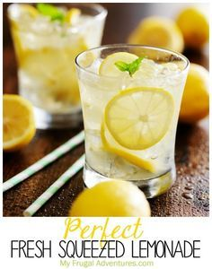Perfect fresh squeezed lemonade recipe- so simple and the most delicious lemonade I have ever had. This is perfect for Spring and Summer hostess gifts!