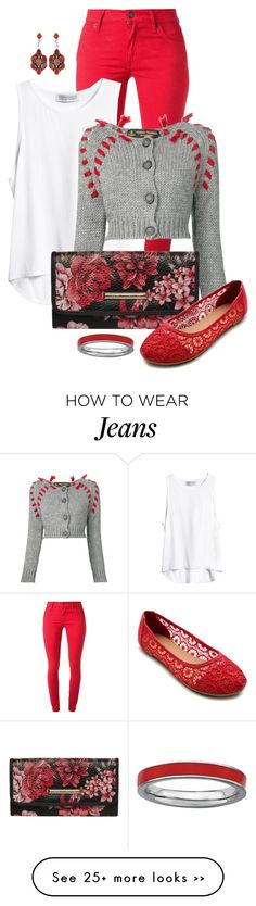 """Red and Grey"" by feelgood35 on Polyvore"