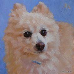 """""""Sammy"""" - 8x8"""" oil painting www.marniehanlon.com"""