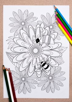 Bee inspired to colour!☺️🎨🐝