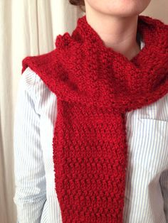 Thousand Mile Journey Scarf | The design of this easy knit scarf prevents curling on the edges.