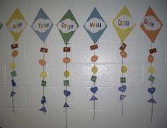 Classroom Freebies Too: Rainbow Name Kites Classroom Freebies, Classroom Activities, Classroom Ideas, Speech Language Pathology, Speech And Language, Rainbow Names, Therapy Activities, Therapy Ideas, Language School