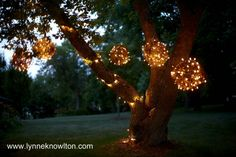 Craft Tutorials Galore at Crafter-holic!: Lighting Spheres
