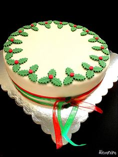Greek Desserts, Greek Recipes, Vasilopita Cake, Christmas Desserts, Christmas Crafts, New Year's Cake, Cookie Recipes, Fondant, Goodies