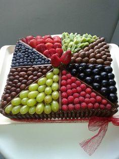 Čokoládovo-ovocná tortička