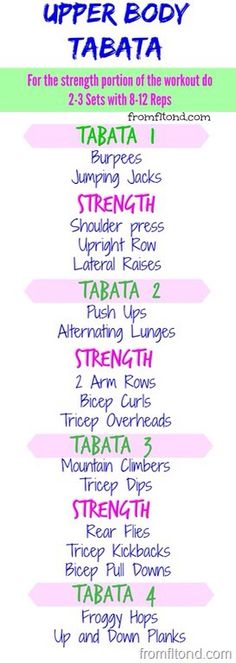 Upper Body Tabata Workout | Posted by: AdvancedWeightLossTips.com
