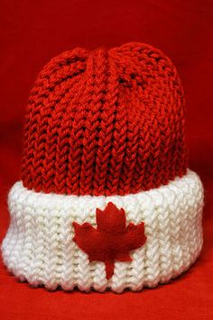 Maple leaf toque - that's about as Canadian as you're gonna get!