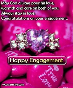 Congratulations On Your Engagement SMS Messages Cards - Engagement SMS Engagement Congratulations Message, Congratulations Quotes, Engagement Wishes, Engagement Outfits, Wedding Engagement, Engagement Rings, Message For Sister, Wishes For Sister, Sms Message