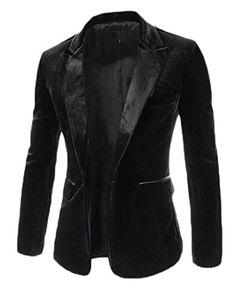 New Arrival Elegant Single Button Design Casual Stylish Blazer Jacket Suits Hot Sale Fashion Special Slim Fit Blazer Clothing Length: RegularMaterial: Cotton,Po Blazers For Men Casual, Casual Blazer, Casual Outfits, Casual Suit, Stylish Blazers, Casual Clothes, Costume Noir, Black Velvet Blazer, Velvet Jacket