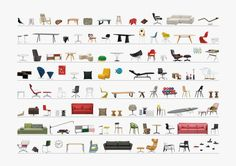 VITRA_products Home collection 2014 George Nelson, Vitra Chair, Photoshop Rendering, Saint Ouen, Resource Furniture, Vitra Design, Interior Design Sketches, Architecture Graphics, Charles & Ray Eames