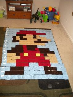 8bit crochet blankets if I could quilt this blanket Johnny would be in heaven