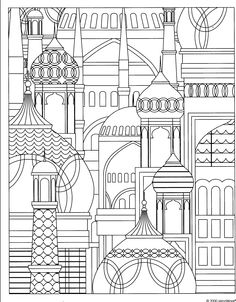 371 best Architecture Coloring Pages for Adults images on Pinterest ...