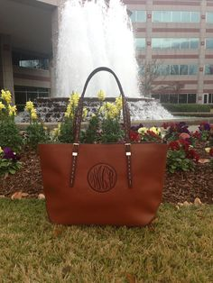 Monogram Purse Tawny with Cloister Thread by IFlewTheNest on Etsy, $50.00