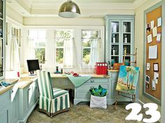 baby blue home office-built in-23