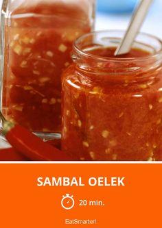 Sambal oelek – Famous Last Words Chutneys, Sambal Oelek, Pesto Sauce, Sauce Recipes, Spices, Food And Drink, Tasty, Homemade, 20 Min