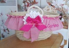 Beach Basket, Girls Bags, Decoration, Presents, African, Baby Shower, Tote Bag, Sewing, Children