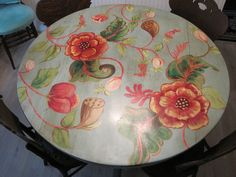 Painted Table Tops, Painted Furniture, Decorating Ideas, Craft Ideas, Plates, Tableware, Projects, Tables, Crafts