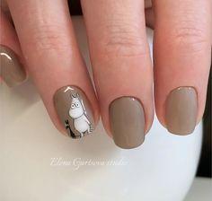 Animals manicure nail art design
