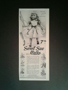 1952 Sweet Sue American Character Doll Vintage Kids Girl Toy Trade Print Art Ad   Dolls & Bears, Dolls, By Brand, Company, Character   eBay!