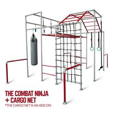 The Ninja by Funky Monkey Bars has been built for budding ninja warriors and parkour champions. It comes complete with all the climbing, pull-up, swinging, boxing and strength building equipment we can attach to train in your own backyard. Backyard Jungle Gym, Backyard Playground, Backyard For Kids, Teen Bedroom Designs, Boys Bedroom Decor, Girls Bedroom, Bedroom Furniture, Furniture Design, Bedrooms