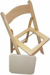 "Natural Wooden Folding Chair And Pad very nice. The ""white wood"" style in natural... www.chairs-and-tables-r-us.com"