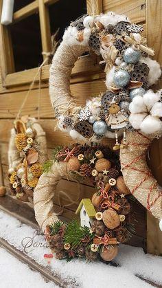 Sara Creations  Christmas wreath  Coronite Craciun  www.saracreations-bysara.blogspot.com