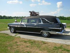 i have been saying i need a car with a trunk... how about a hearse? perfect. 1956 pontiac hearse