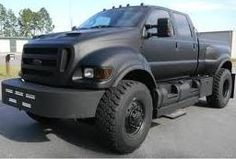 F650 Ford truck with a Matte Black paint Finish.