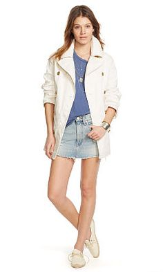Cotton Canvas Pea Coat - Denim & Supply  Coats - RalphLauren.com
