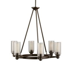 Buy the Kichler Olde Bronze Direct. Shop for the Kichler Olde Bronze Circolo 6 Light Wide Chandelier with Dual Cylinder Shades and save. Circular Chandelier, Foyer Chandelier, Chandelier Ceiling Lights, Chandelier Shades, Room Lights, Ceiling Fans, Chandelier Ideas, Outdoor Chandelier, Kitchen Chandelier