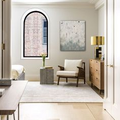 "GRAY & Co. | GRAHAM SIMMONDS on Instagram: ""Chic in Manhattan. Designed by :: @parisforino"" Graham, Manhattan, Bedroom, Chic, Grey, Inspiration, Furniture, Instagram, Design"