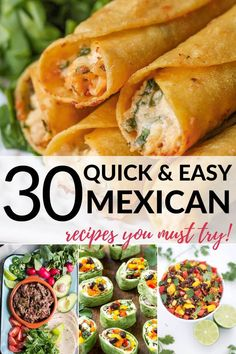 There's nothing better than delicious Mexican cuisine. I've found 30 easy recipes including traditional Mexican dishes, vegetarian options and cocktails. mexican food The Best Mexican Cuisine Vegetarian Mexican Appetizers, Vegetarian Options, Appetizer Recipes, Authentic Mexican Recipes, Mexican Food Recipes, Traditional Mexican Food, Easy Recipes, Cooking Recipes, Clean Eating Snacks