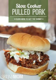 Now this puts a healthier spin on a pulled pork sandwich!  Check this dinner recipe out!
