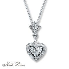 neil lane jewelry | Email Neil Lane Designs 1/3 cttw Diamond Necklace 14K White Gold