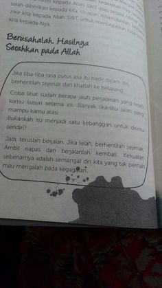 Pin by ida widyawati on buku dalam kata Today Quotes, Reminder Quotes, Self Reminder, Mood Quotes, Life Quotes, Quotes Quotes, Qoutes, Muslim Quotes, Islamic Quotes