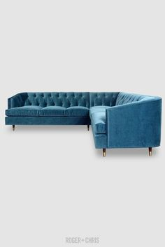 Olympia A compact Chesterfield with an Art Deco bend. Blue Furniture, Furniture Decor, Blue Sofas, Blue Chairs, Fabric Sectional, Chesterfield Sofa, Living Room Remodel, Quality Furniture, Blue Velvet