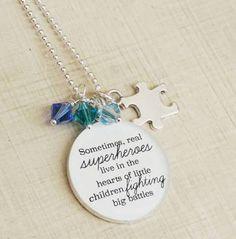 Autism Awareness Necklace ...