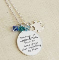 Autism Awareness Necklace ...