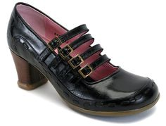 """John Fluevog's Operetta """"Illeana"""": """"Luscious and rich-colored leathers with tone-on-tone details and 4 straps on a 2.5"""" stacked signature heel."""" ★★★★★"""