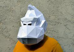 Donkey Kong Mask. | PaperCraft Mask | Paper Gorilla | Pixels Movie | Paper Mask | Paper Monkey | Paper Animals | Pixels | Paper Costume Mask