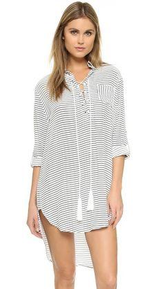 FAITHFULL THE BRAND Walker Shirt Dress